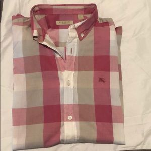 Men's Pink Burberry Britt Dress Shirt